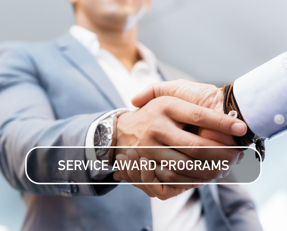 Service Award Programs recognize & reward employee service & dedication